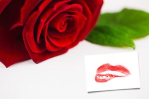 lips and rose
